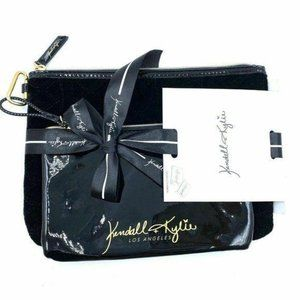 NEW Kendall + Kylie Black Removable Pouches 2 Pc